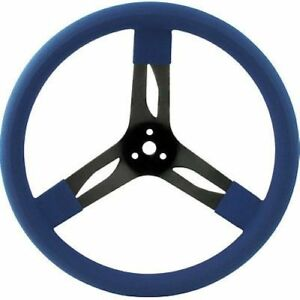 Quickcar Racing Products 68 0032 Dished 15 Steel Steering Wheel Blue Imca