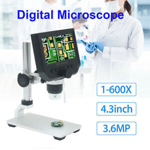 G600 1 600x 4 3inch Led Digital Microscope Magnifier Endoscope With Hd 3 6mp Ccd