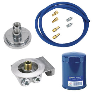 Sbc Remote Oil Filter Relocation Kit Horizontal Inlet outlet