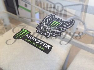 Authentic Monster Army Energy Drink Athlete Sponsor 2 In 1 Sticker Decal Bmx