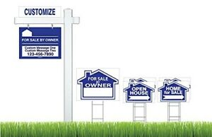 Real Estate For Sale By Owner Fsbo Sign Kit For Sell Signs
