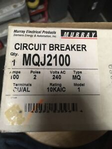 new Murray Siemens Mqj2100 100 Amp 240 Volt 2 pole Breaker
