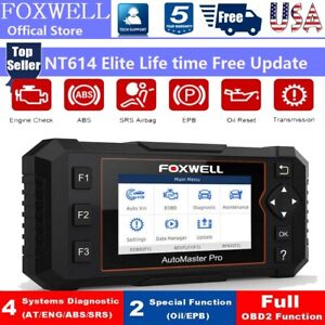 Foxwell Abs Airbag Srs Reset Diagnostic Tool Obd2 Code Reader Nt630elite Scanner