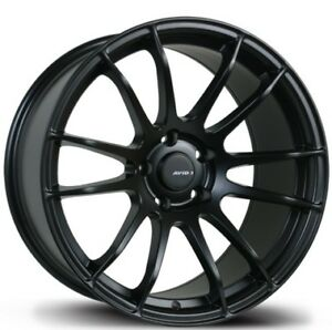 Avid1 Av20 18x9 5 Rims 5x100 38 Black New Wheels Set Of 4