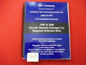 1998 2000 Chrysler Domestic Passenger Car Diagnostic Reference Book Manual Vgc