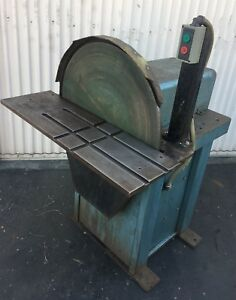 "HEAVY DUTY 24"" Disc Sander With 5HP BALDOR Motor 208-230460V 3Ph"