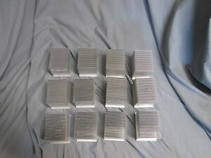Lot Of 12 Aluminum Heatsink Heat Sink Cooling Radiator 3 1 2 X 2 1 2 X 2 5 8