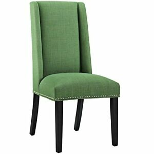 Modway Baron Upholstered Fabric Modern Tall Back Dining Parsons Chair With Nailh