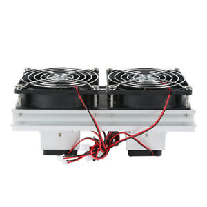 Thermoelectric Peltier Refrigeration Cooling System Kit Cooler Double Fan Ih9b