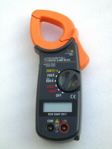 Nos Kyoritsu Digital Clamp Meter Kew Snap 2017 With Electric Current Leads