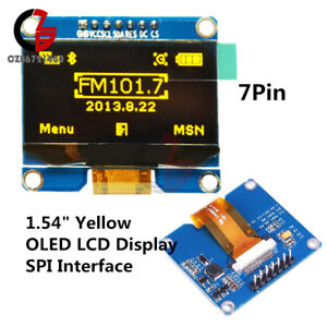 Yellow 1 54 Inch Oled Display Module128x64 Spi 3 3v 5v Ssd1309 For Arduino