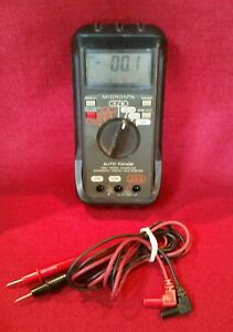 Micronta Multimeter 22 167 Rubber Case Test Leads Battery Operated