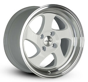 17x9 25 Whistler Kr1 4x100 White Wheel Fits Miata Integra Aveo Civic Aggressive