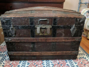Beautiful Camelback Steamer Trunk Begging To Be Restored