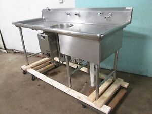 Commercial Heavy Duty S s Prep Sink W emerson In sink erator Garbage Disposer