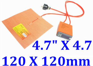 4 7 X 4 7 120 X 120mm 100w W Digital Controller 3d Printer Heatbed Heater Pad