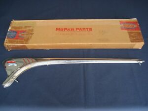 Nos 1954 Plymouth Rear Fender Top Fin Moulding In Original Box Beautiful