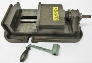 Lw Chuck 6 1 2 General Purpose Milling Vise 5 Jaw Opening W Handle T 1201