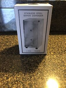 Stainless Steel Napkin Dispensers Set Of 10 Tallfold Napkins
