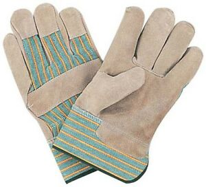 Men s Extra Large Suede Leather 10 In Work Gloves With Gauntlet Cuff
