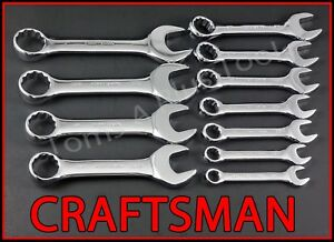 Craftsman Hand Tools 11pc Full Polish Stubby Combination Sae Inches Wrench Set