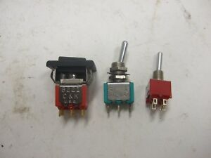 Lot 200 Jbt Miniature Toggle Switches Momentary On on 5a 125vac C