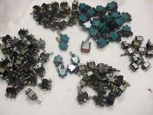 Lot 96 Military Toggle Switches C h On Off Momentary Ms24523 31 Ms24523 31