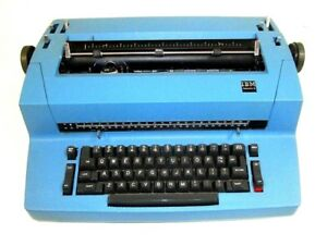 Vintage Blue Ibm Selectric Ii Typewriter sold As is Parts repair