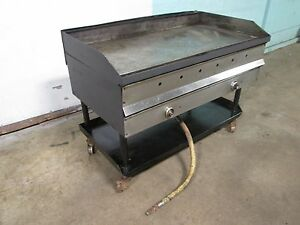 48 w Heavy Duty Commercial Natural Gas 4 Burners Griddle flat Top Grill On Stand