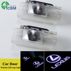 2x Led Laser Projector Door Step Ghost Shadow Lights Logo For Lexus Ls Es Is Lx