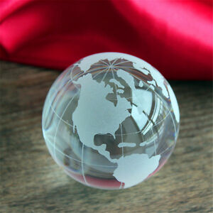 Wind Crystal Glass Ball World Earth Ball White Water Home Office Desktop Ocean