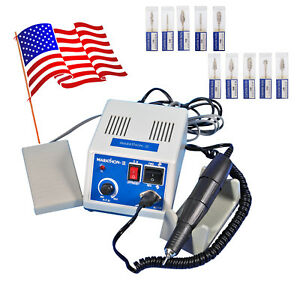 Dental Lab Marathon Handpiece 35k Rpm Electric Micromotor Polishing Drill 10 Ti