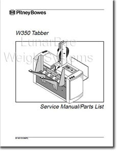 Pitney Bowes W350 Tabber Repair Service Parts Manual
