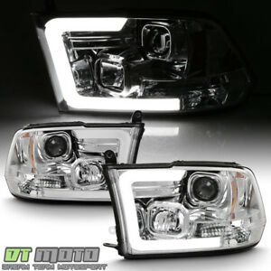2009 2018 Dodge Ram 1500 2500 3500 Led Light Tube Projector Headlights Headlamps