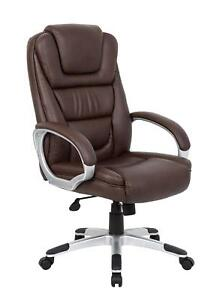 Boss Executive Leatherplus Chair Bomber Brown Without Knee Tilt