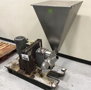 Crepaco U6ur Size 6 Positive Displacement Rotary Pump 1 1 2hp W S s Feed Hopper