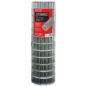 4 X 100 Ft Steel Welded Wire Garden Fencing Mesh Fence Pvc Coated Welded Silver