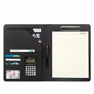 A4 Pu Leather Conference Folder Personal Organizer Executive Business Resume