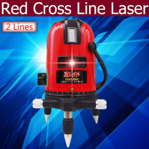 3d Laser Level 2 Line Self Leveling 360 Rotary Red Cross Measuring Tool Set