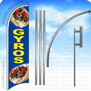 Gyros Windless Swooper Flag Kit Feather Banner Sign 15 Set Bb