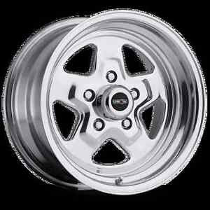 15x7 Vision Nitro Sport Star Pro Drag Racing Wheel 5x4 5 1pc No Weld 4 bs
