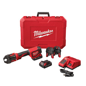 New Milwaukee 2674 22c M18 Cordless Short Throw Tool Press Kit W Pex Crimp Jaws
