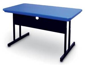Blow Molded Training Table Desk Height Work Station id 812206