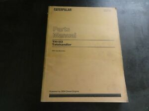 Caterpillar Cat Th103 Telehandler Parts Manual 3pn Sebp2372 02