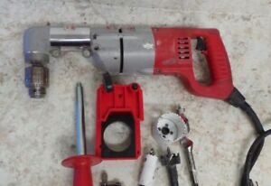 Milwaukee 1107 1 1 2 Heavy Duty Two Speed Right Angle Drill W case 58845 1 J 2
