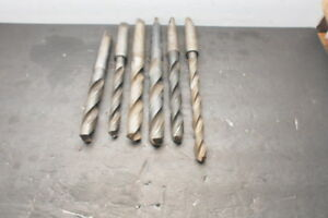Lot Of 6 Morse Taper 3 Drill Bits 13 16 29 32 57 64 31 32 11 16 6875 Used Usa