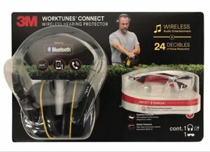 3m Worktunes Hi fi Wireless Sound Protection 24 Db headphones Safety Glasses