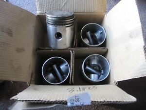 Jeep 134 Cubic Inch 4 Cylinder F head L head Engine Good Used Set Of Pistons