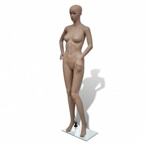 Female Mannequin Woman Full Body Dress Form Display Stand Glass Base Rotate Arms