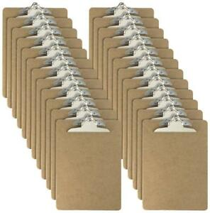 Officemate Letter Size Wood Clipboards 6 Inch Clip 24 Pack Clipboard